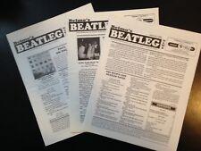 3 Belmo's Beatleg News, Beatle Fanzine, 1989, good condition, vintage.