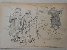 1905 Caricature Humour Le Plus chic du régiment boit de Absinthe Cusenier