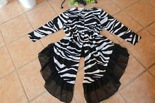 MAGNA Long Zipfel Bluse 44 46 NEU schwarz weiß Tüll Volantabschluss LAGENLOOK