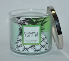 Bath & Body Works Pineapple Sunrise Scented Candle 3 Wick 14.5oz Large Green