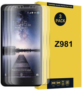 3 Pack Premium Tempered Glass Screen Protector for ZTE ZMax Pro Z981  ZTE Carry