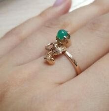 Vintage Russian jewelry Lovely ring Solid Rose Gold14K 583 2,97g S-17,0