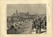 1873 Disraeli Visit To Glasgow University West End Park