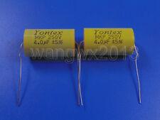 2PCS For YONTEX 250V 4uF Audio Speaker Divider Crossover Non-Polarity Capacitor