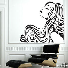 """""""Flowing Hair """" Removable wall stickers Vinyl decal for home or Beauty Salon"""