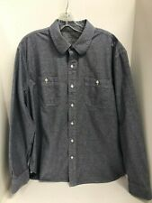 Austin Clothing Co. Mens XL Fitted Button Up Dress Shirt Chambray Cotton
