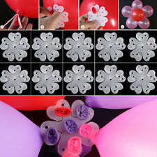 10pcs  Wedding Xmas Decoration Balloon Birthday Plum flower Clip Tie 2016 Party