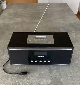 TELEFUNKEN Model: iP200 für iPod/iPhone/CD, Radio - Schwarz, Silber, Vintage #K2