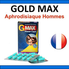Aphrodisiaque Homme GOLD MAX 20 gélule Stimulant sexuel Livraison discrete 48h