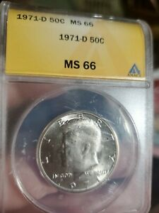 1971 D ANACS MS66 Kennedy Half (5037)