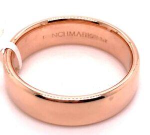 BENCHMARK 14 KARAT ROSE GOLD  APPROX 6MM WEDDING BAND SIZE 10