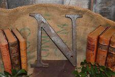 "Antique Cast Iron Large Industrial Letter ""N"" Sign N Signage"