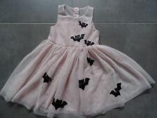 Robe de soirée sans manches rose clair brodée chauves souris H&M Taille 4-5 ans