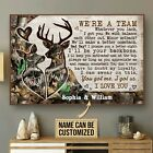 Personalized Deer Couple Camo We're A Team Poster & Canvas Wall Art Decor