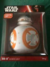 3D Light FX Star Wars BB-8 Droid 3D Deco LED Wall Light Brand New in Retail Box