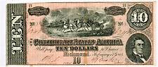 1864 $10 CONFEDERATE STATES OF AMERICA T-68  - NICE!
