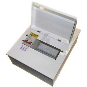 Metal Amendment 3 Consumer Unit & 100 Amp Mains Isolator Switch - 4 / 6 / 8 way