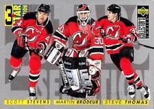 1996-97 Collectors Choice #322 Martin Brodeur, Steve Thomas, Scott Stevens