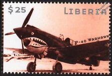 WWII Curtiss P-40 WARHAWK Fighter Aircraft Stamp