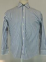 English Laundry Flip Cuff Shirt Christopher Wicks Embroidered Mens Size L EUC
