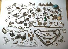 Lot de bijoux et objets divers modernes et anciens - argent 454 g