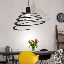 Suspension luminaire plafond lustre forme spiralée métal noir salle à manger