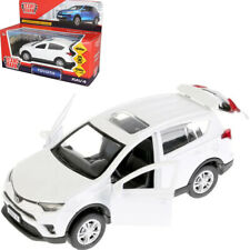 Toy Car Toyota RAV 4 White Diecast Metal Model Car Scale 1/36