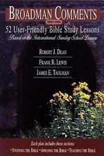 Broadman Comments, June 1999-August 1999: 13 User-Friendly Bible Study Lessons