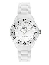 s.Oliver Women's Watch With Silicone Bracelet so 3298 PQ White X - Small