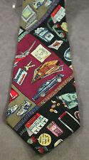 Nicole Miller Business Traveler Design Hand Sewn Silk 1994 Novelty Necktie