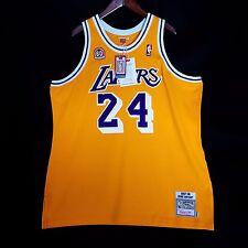 100% Authentic Kobe Bryant Mitchell Ness 60th Anniversary Lakers Jersey 52 2XL