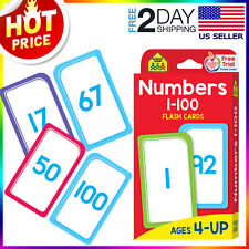 Numbers 1-100 flash cards for toddlers Kids Babies Preschool Early Learning Math