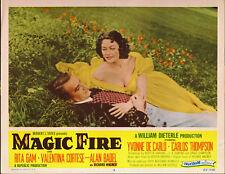 MAGIC FIRE orig 1955 lobby card YVONNE DE CARLO/ALAN BADEL 11x14 movie poster