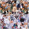 Puppy Kitten Cats Dogs *CHOOSE DESIGN*  Animals Christmas Quilting Fabric FQ