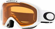 Oakley O-Frame 2.0 XM Asian Fit Goggles White with Persimmon & Dark Grey Lens