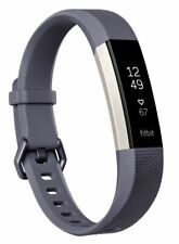 Fitbit - Alta HR Activity Tracker + Heart Rate (Small) - Blue Gray