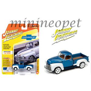 JOHNNY LIGHTNING JLCG022 JLSP106 B 1950 CHEVY 3100 PICK UP TRUCK 1/64 BLUE WHITE