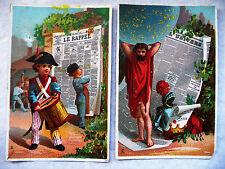 """DEUX CHROMOS ANCIENS JOURNAUX """"LA RAPPEL"""" ET """"L'UNIVERS"""""""