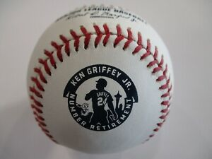 Official Rawlings KEN GRIFFEY JR # Retirement Baseball - SEATTLE MARINERS