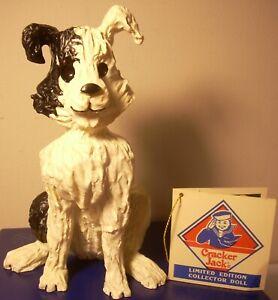 "Cracker Jack Companion Dog BINGO Figurine by Pat Kolesar 5 ½"" Resin"