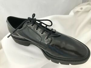 Geox Respira Black Patent Leather Lace Up Shoes Size 6.5