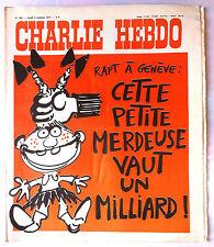 """b)Charlie Hebdo N°360 du 6/10/1977; """"RAPT à Genève"""""""