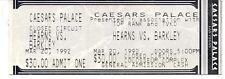 Thomas Hearns Iran Barkley  Boxing Ticket March 20 1992