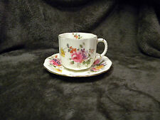 Royal Crown Derby Cup and Saucer Floral, EXCELLENT CONDITION