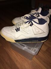Youth Air Jordan 4 IV Retro RARE SZ 5Y WHITE/BLUE Vintage!