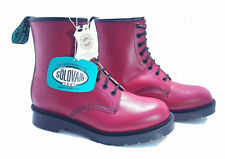 Solovair Dr. Martens Doc England Cherry Red Haircell Leather Boots UK 5 US 7