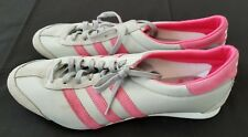 Womens Sz 11 Grey/Pink Adidas Track & Field Long Jump Spikeless Shoes (preowned)