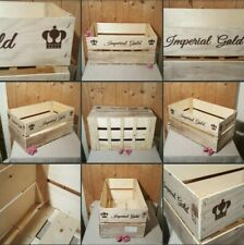 *Used* Lovely Thin Wooden Box Market Vintage▪CRATE▪Home Garden Decor~Some Splits