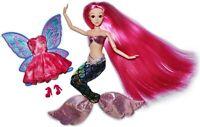 "Eledoll Sirenia Long Pink Hair Jointed 11.5"" Fashion Doll MERMAID TO FAIRY"