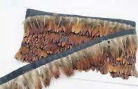 Natural Pheasant Feather Fringe Ribbon Trim Price for 30cm DIY Craft Costume